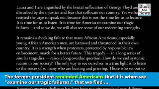 President George W Bush releases statement on country's unrest