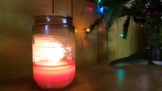 Ultra time lapse burning candle