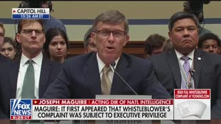 Turner questions acting DNI in whistleblower hearing