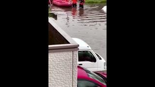 Roads inundated as torrential rains batter Japan