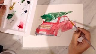 Christmas Tree & Car Painting Tutorial
