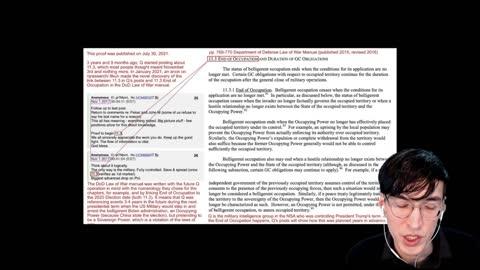 Q Drops Mirror DOD Law Of War Manual - Trump Return - Plea From Lockdown