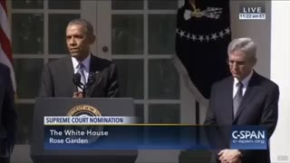 Then president Obama speaks about nominating a SCOTUS