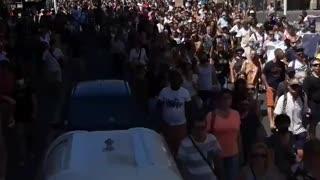 Massive Protests in Perpignan, France Against Vaccine Passports, Vaccine Mandates