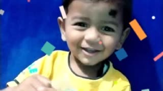 1 year kids saying happy birthday to you 🤣