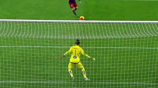 Lionel Messi Penalty Assist to Luis Suarez ● First Penalty Assist Ever