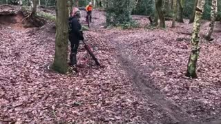 Mountain Unicyclist Attempts Trail Rides