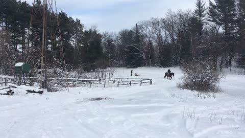 Sledding with Morgan