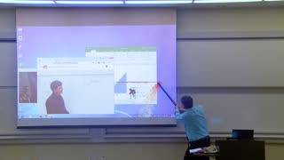 Math Professor Fixes Projector Screen (April Fools Prank*