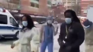 Hospital workers reminding us COVID is bullshit