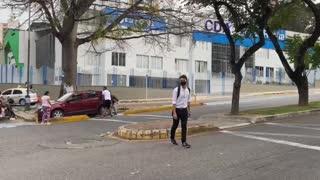 Accidente por invasión de ciclovía en Bucaramanga