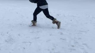 Maryland Snowball fight between friends