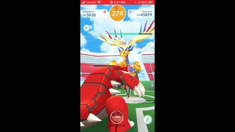 Pokemon Go - Xerneas Raiding