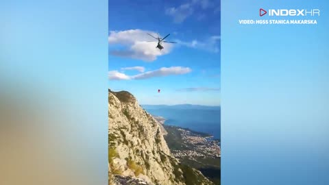 Helikopterska akcija spašavanja na Biokovu