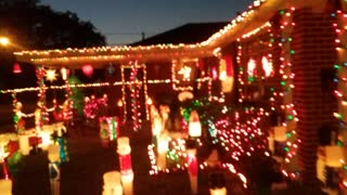 Christmas Display 2016 Nighttime Part 1