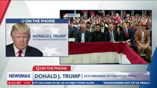 """FULL INTERVIEW: President Donald Trump on Newsmax's """"Wake Up America"""""""