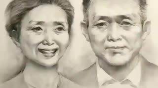 The best artist in the world draw a human life in one painting