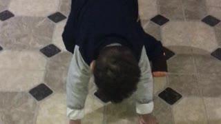 Funny boy dancing