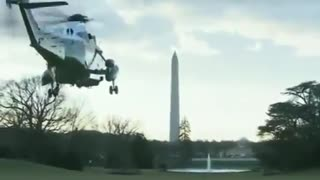 President Trump Leaves The WH One Last Time