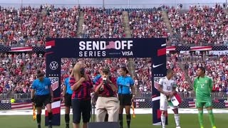 Several U.S. Women's Soccer Team Players Turn Back On Veteran Playing National Anthem