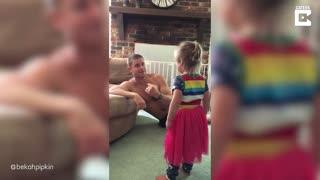 Dad tricks his daughter