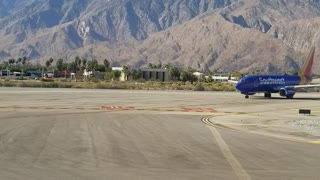 Palm springs int take off