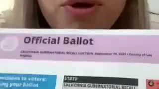 California Recall Election Mail-In Ballot Hole Issues