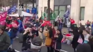 President Trump fries over freedom plaza