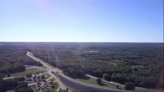 Flight Over Pomme De Terre Dam in Missouri