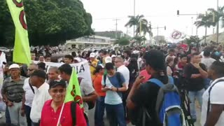 Así avanza la marcha de estudiantes en Cartagena