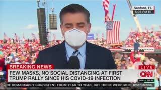 """Crowd Chants """"CNN Sucks"""" As Acosta Is On Air"""