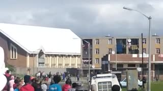 Boy shot during protest