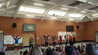 Teacher dance in primary school