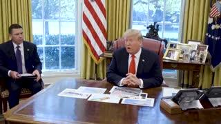 Donald Trump Dorian briefing