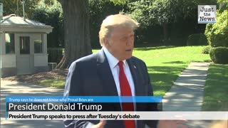 President Trump tells reporters: 'I don't know who the Proud Boys are'