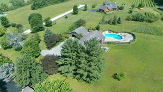 Aerial view of a home - Autel X-Star Premium.