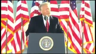 (FULL) Trump Delivers Final Remarks as President