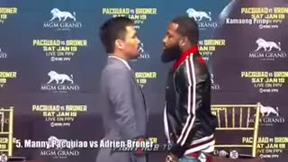 Manny Pacquiao Funniest Staredowns in Boxing