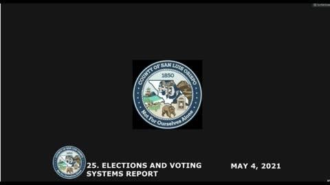 Election Security • Board of Supervisors May 4, 2021 Public Comment • Karen • Karen • Kathleen • Ken