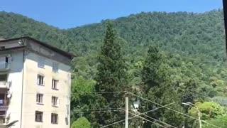 Beautiful view of Abkhazia