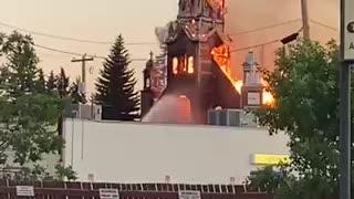 Churches burned down in Canada