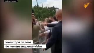 Slap Macron in the face in slow motion.