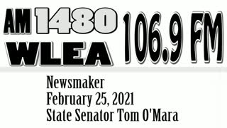 Wlea Newsmaker, February 25, 2021, Senator Tom O'Mara