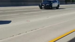 Police Cruiser Collides with California Transportation Truck