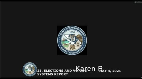 Election Security • Board of Supervisors May 4, 2021 Public Comment • Karen R