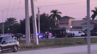 Police Confrontation at Miramar Parkway