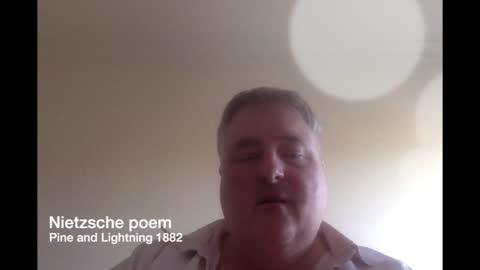 Poem by Nietzsche Pine and Lightning 1882