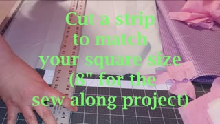 Cutting squares using a rotary cutter and straight edge
