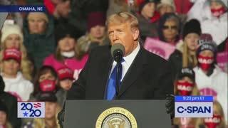 Nebraska Trump talks about Bidens catastrophic lockdowns.
