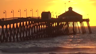 Imperial Beach Pier Sunset - Time Lapse